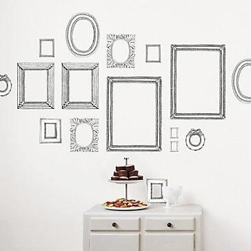 Wall Art For The Living Room Mirrors Or The Hallway Maybe - Wall decals picture frames