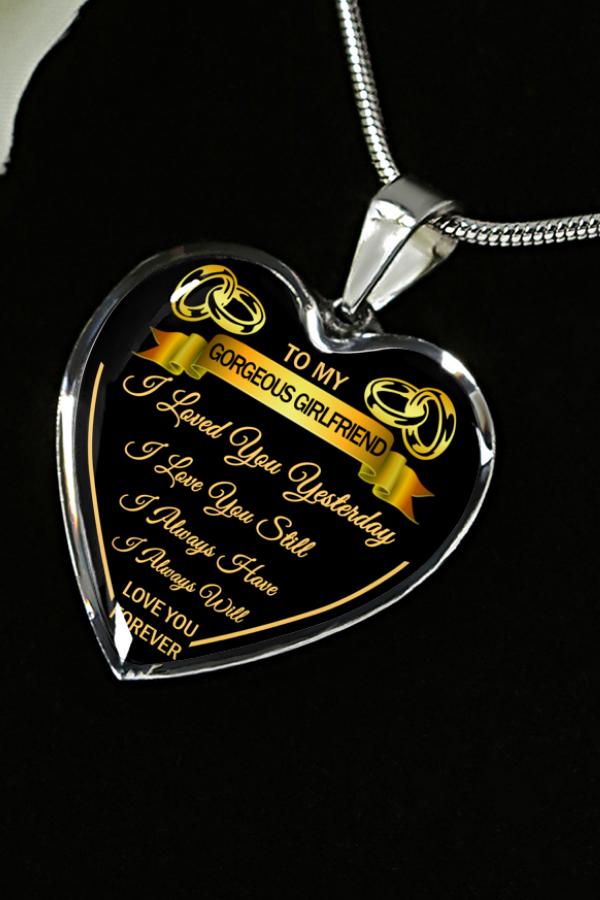 To My Gorgeous Girlfriend Love You Forever Luxury Necklace Birthday Anniversary Graduation Gift Girlfriend Necklace Gift Personalised Gifts For Girlfriend Boyfriend Gifts