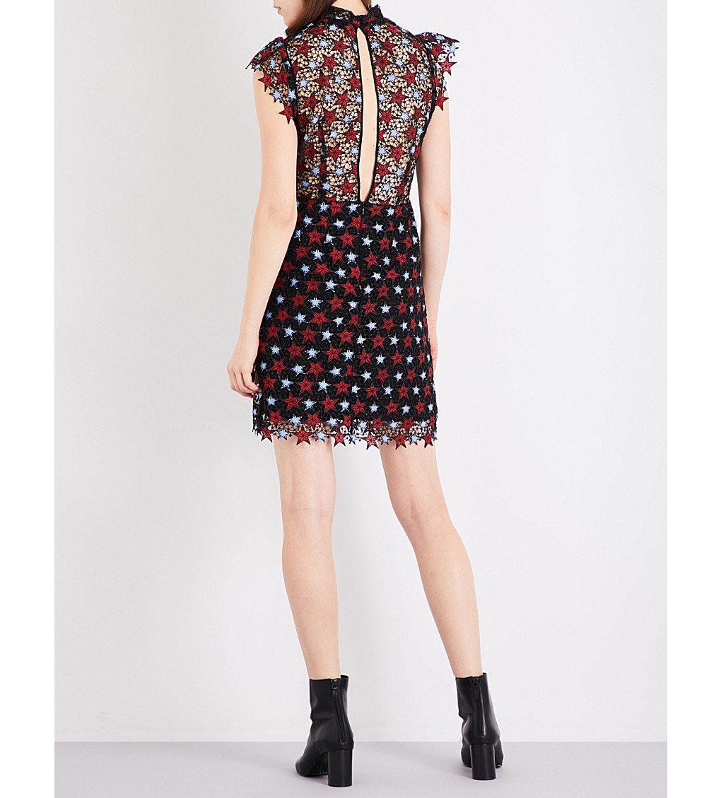 SANDRO Star guipure-lace mini dress