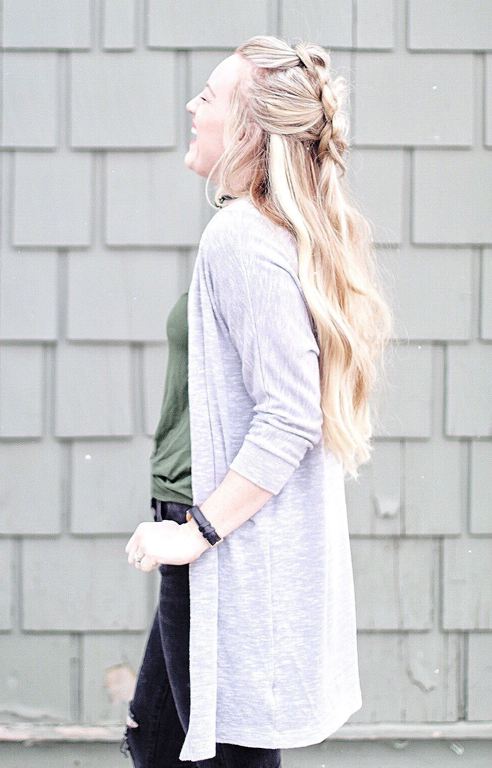 A simple cute style for long hair positivelyoakes on instagram
