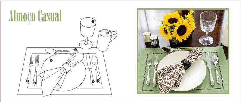 Como arrumar a mesa / Almoço Casual