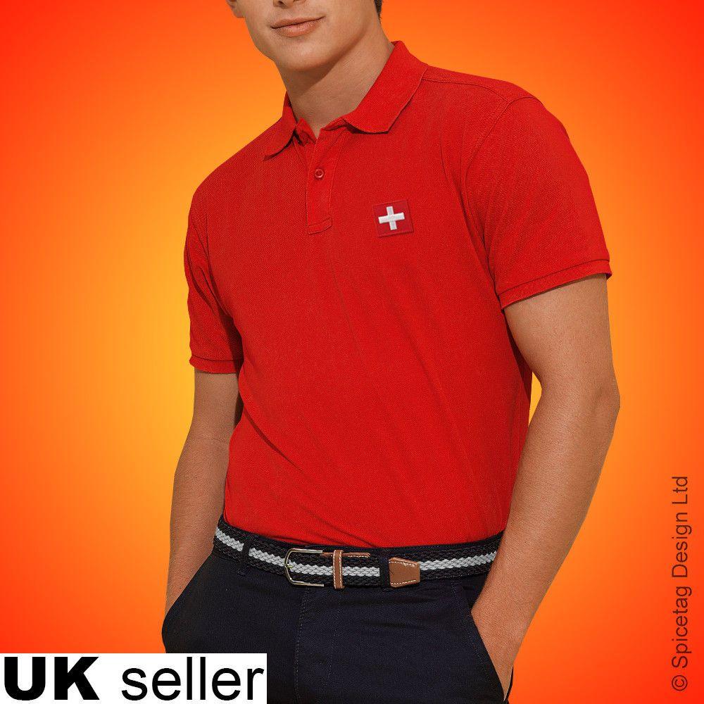 f112644d5 Switzerland Polo Shirt Football World Cup Tshirt Flag Soccer Swiss Top Kit  2018