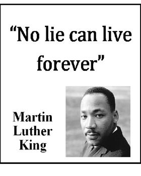 Martin Luther King Poster No Lie Can Live Forever One Of Mlk S
