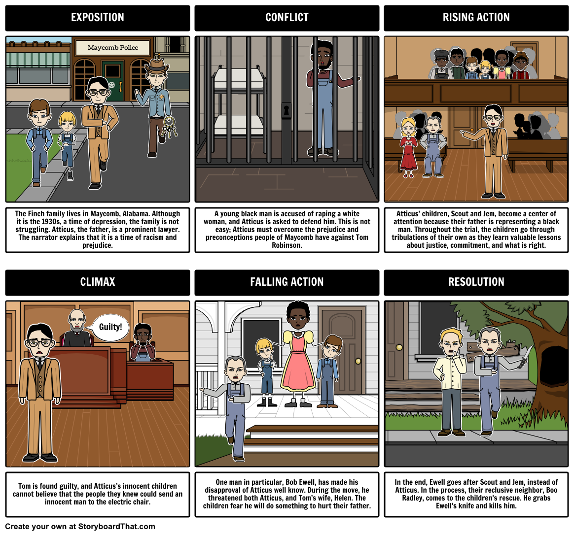 With storyboard that you can create a plot diagram for to kill a with storyboard that you can create a plot diagram for to kill a mockingbird it is a super fun and engaging activity for your students to do ccuart Images
