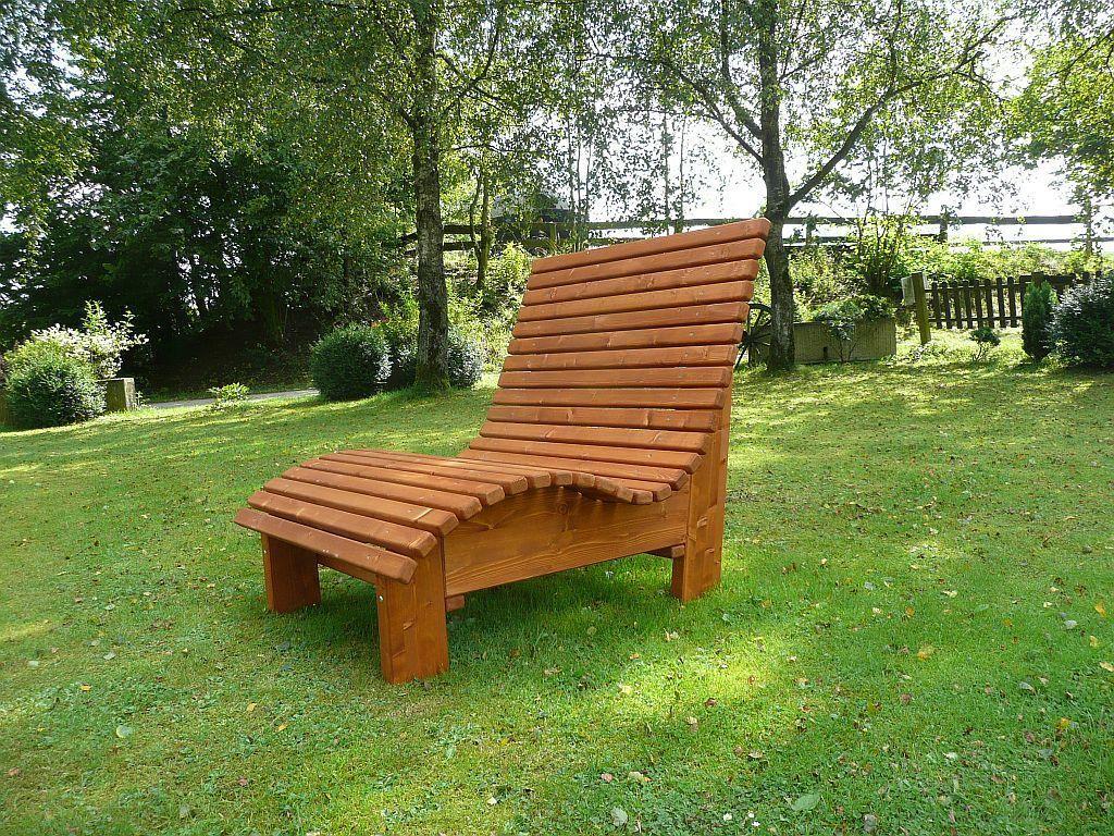 Liegestuhl Relaxliege Sonnenliege Aus Holz Für Garten Terasse Balkon In Garten Terrasse Möbel Liegen Relaxliege Holz Relaxliege Industriedesign Möbel