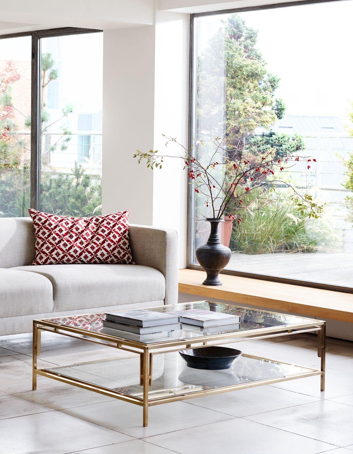 Bridgehampton Coffee Table Glass Table Living Room Centre Table Living Room Brass Living Room [ 1543 x 1200 Pixel ]