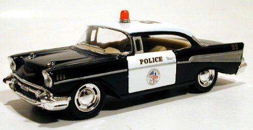 Kinsmart 140 1957 Chevy Bel Air Police Car By Kinsmart 1395