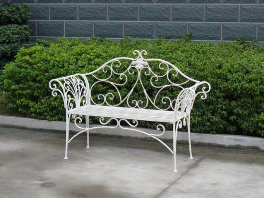 Bancos De Jardim De Ferro Branco Cadeiras Ideias Para Mobilia Ao Ar Livre E Cadeiras Ao Ar Livre