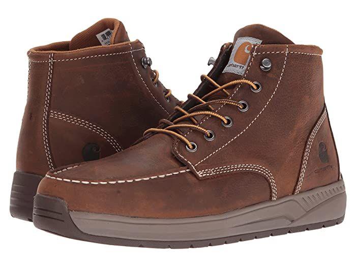 Carhartt 4 Lightweight Wedge Boot Brown Oil Tanned Leather Men S Work Boots The Carhartt 4 Lightweight Wedge In 2020 Lightweight Work Boots Work Boots Men Boots Men