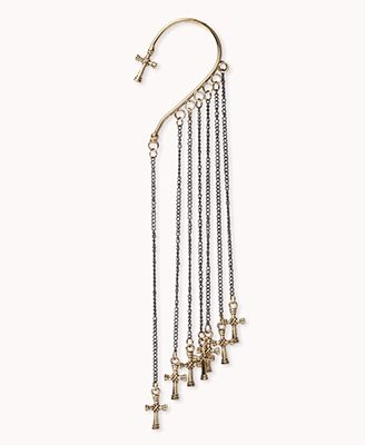 Chained Cross Earcuff Forever21 1079956121