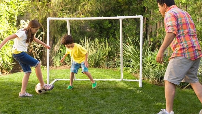 Backyard Soccer Goal Create Endless Hours Of Outdoor Fun With This  Easy To Make Backyard Soccer Goal Constructed With PVC Pipe.