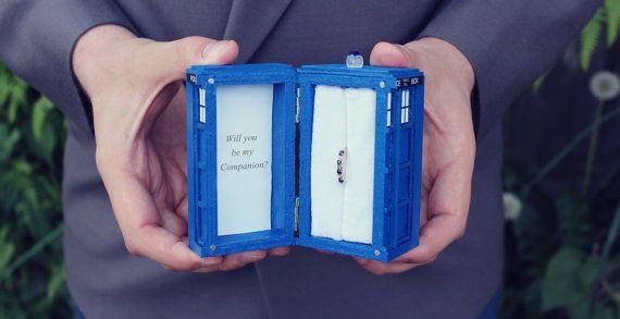 Popular TARDIS Engagement Ring Box Tardis Ring Box By WedTheGeek On Etsy  Doctor Who Merchandise DIY