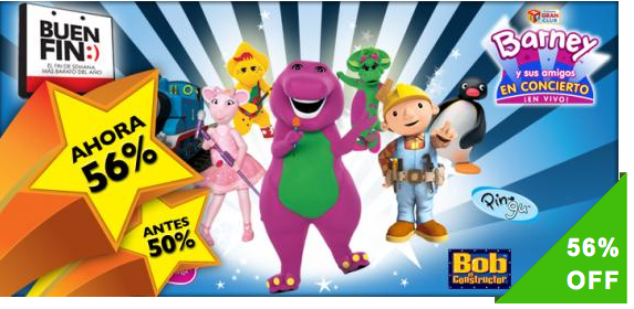 Disfruta este BUEN FIN a Barney y sus Amigos en Concierto en el Teatro Aldama. Boletos VIP de $450 a $199