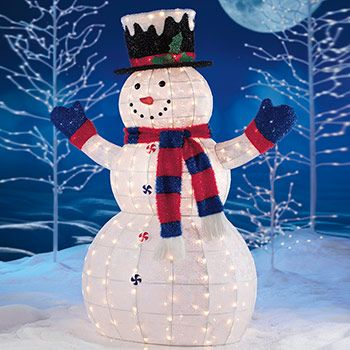 costco uk 5ft 15m 210 led glittering filigree indooroutdoor snowman