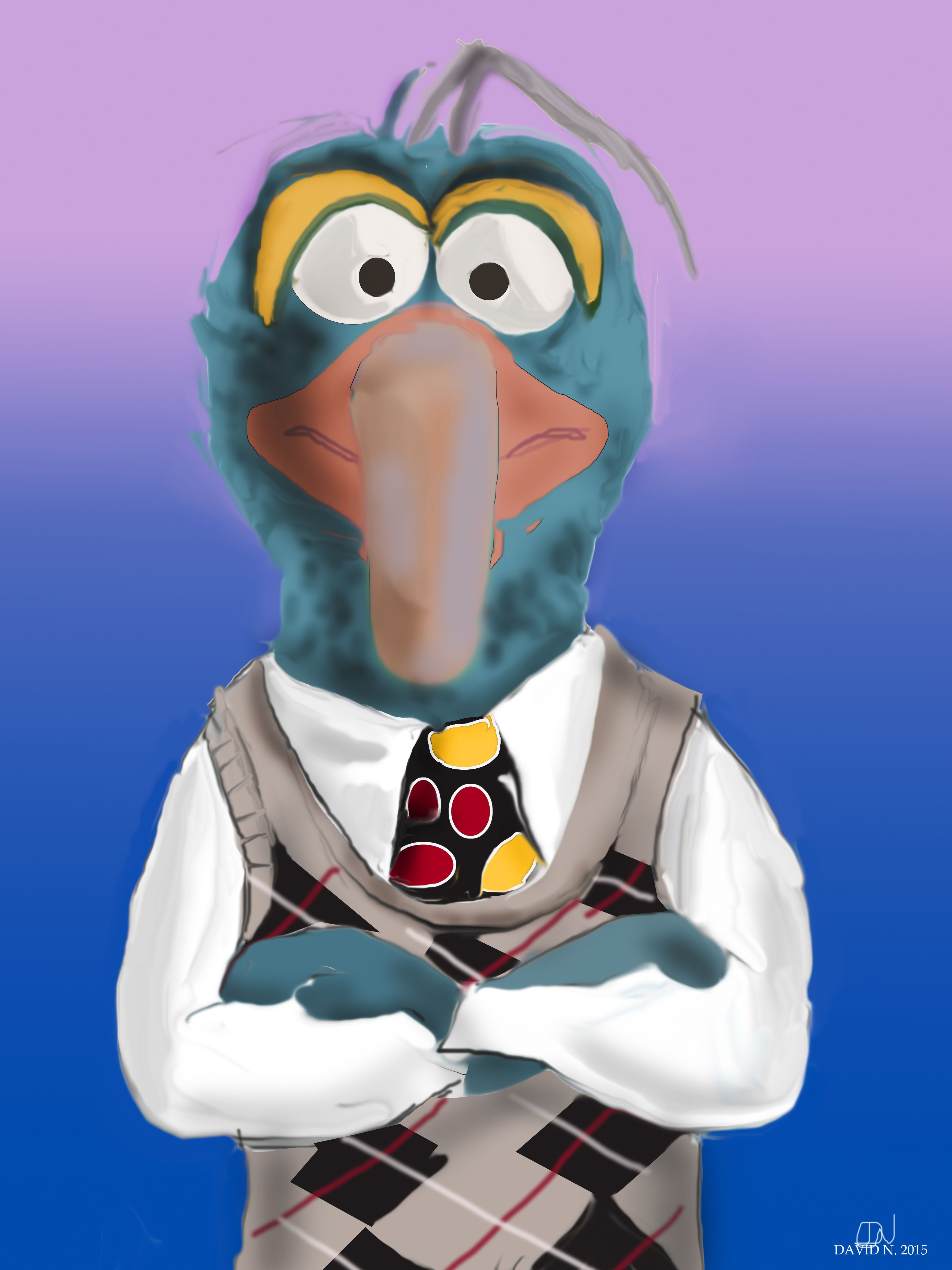 Gonzo (The Muppets Show) Hyper Realistic Drawing. 60x80
