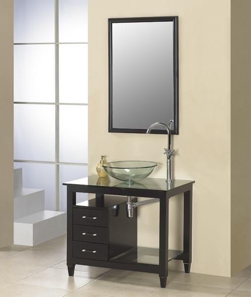 small solid wood bathroom vanity