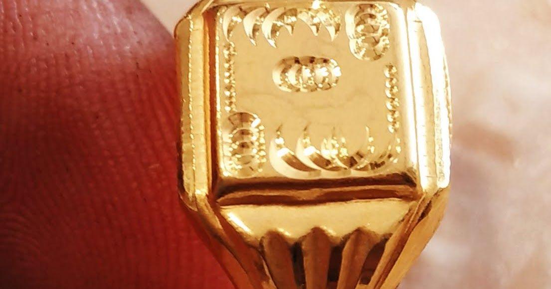 gold gents rings model design