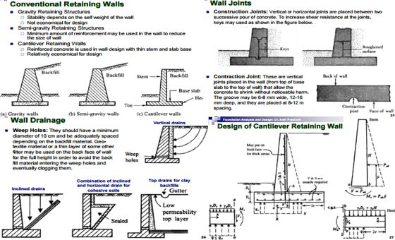 Deep Analyses and Many Designs of Retaining Wall Architecture