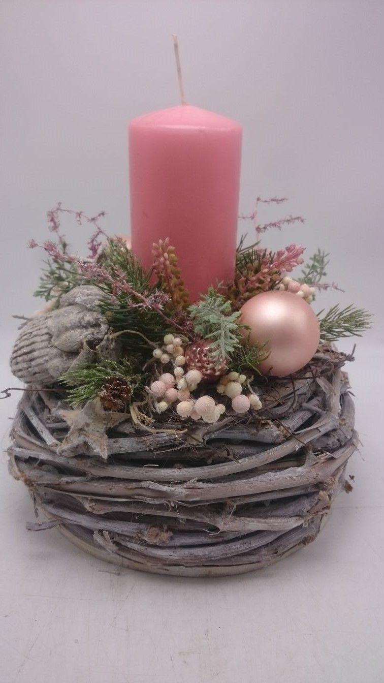 Weihnachtsgestecke Bild Von Petra Balonka Auf Darky Rosa Kerzen