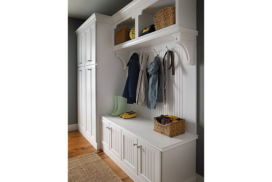 Entryway Or Mudroom Cabinet Design Medallion Cabinetry