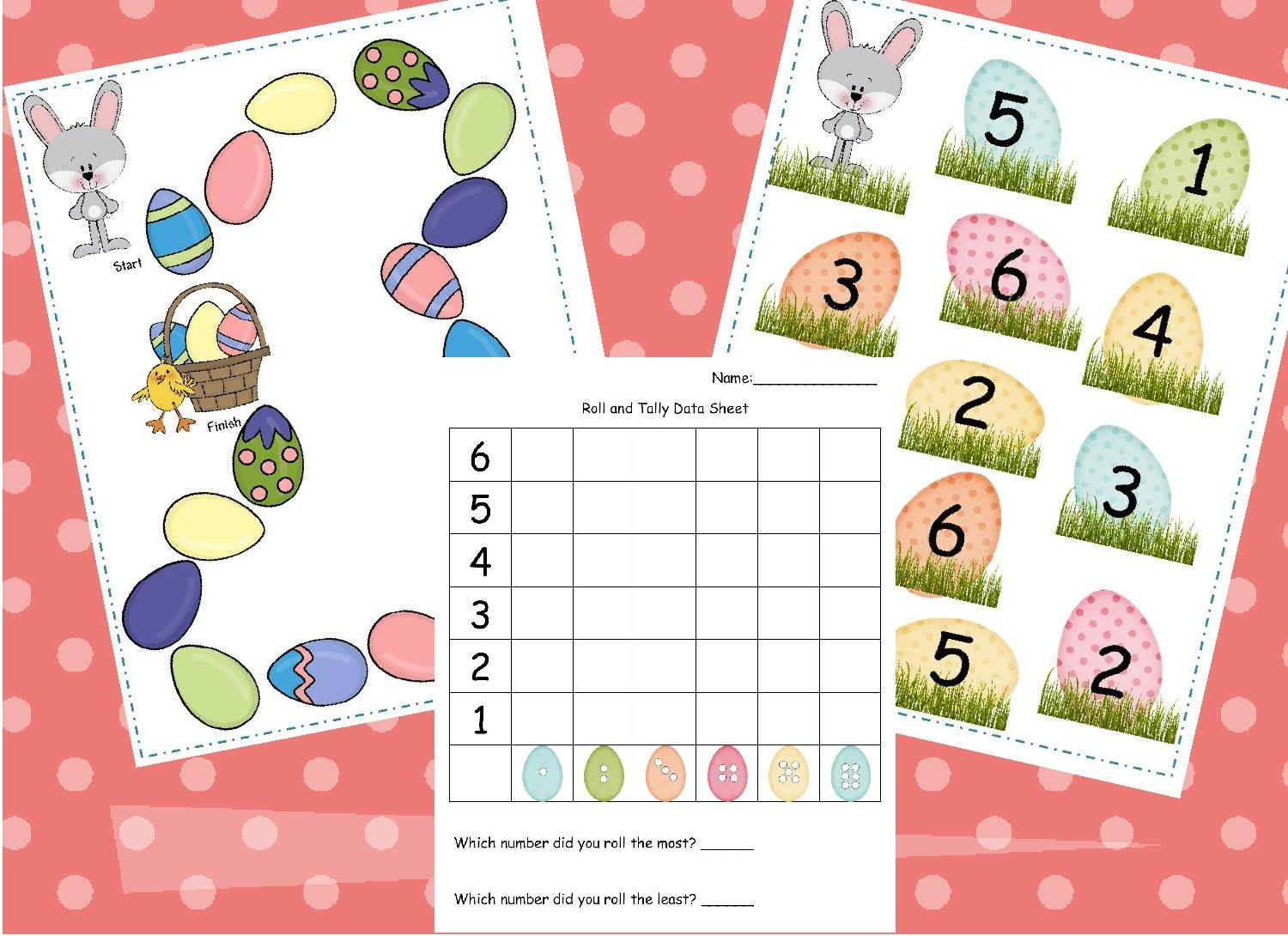 Learning And Teaching With Preschoolers Bunny Dice Game Freebie Preschool