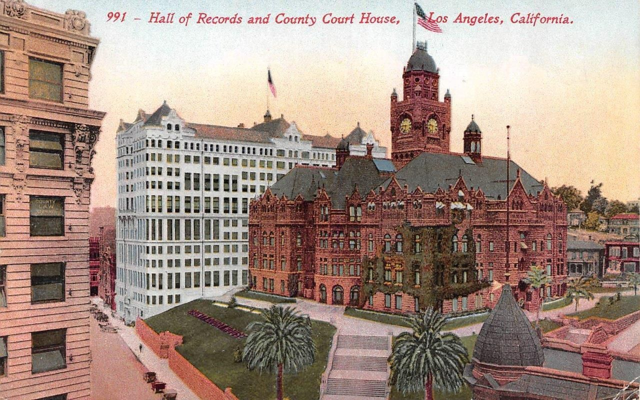 Los Angeles California County Courthouse Hall Of Records C1910 S Postcard Ebay Postcard Courthouse Los Angeles