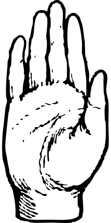 Free Image On Pixabay Palm Hand Human Raised Right Free Clip Art Clip Art Black And White Drawing