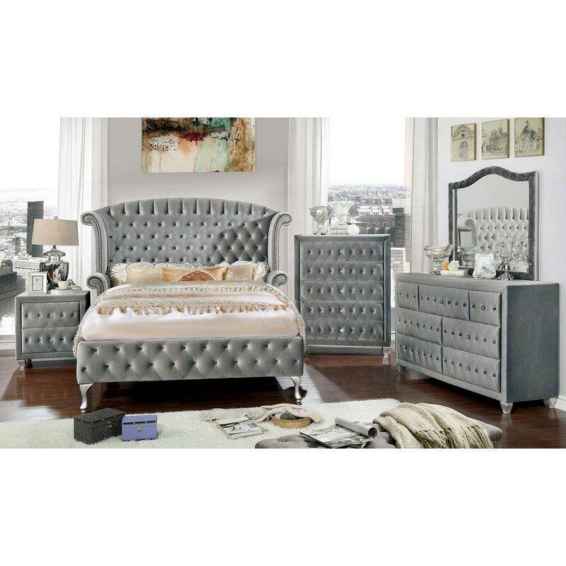 Deangelo Platform Configurable Bedroom Set In 2020 Bedroom Set Master Bedroom Furniture Grey Bedroom Set