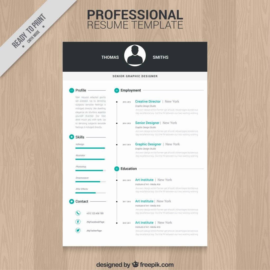 Graphic designer resume template Vector | Free Download - artistic ...