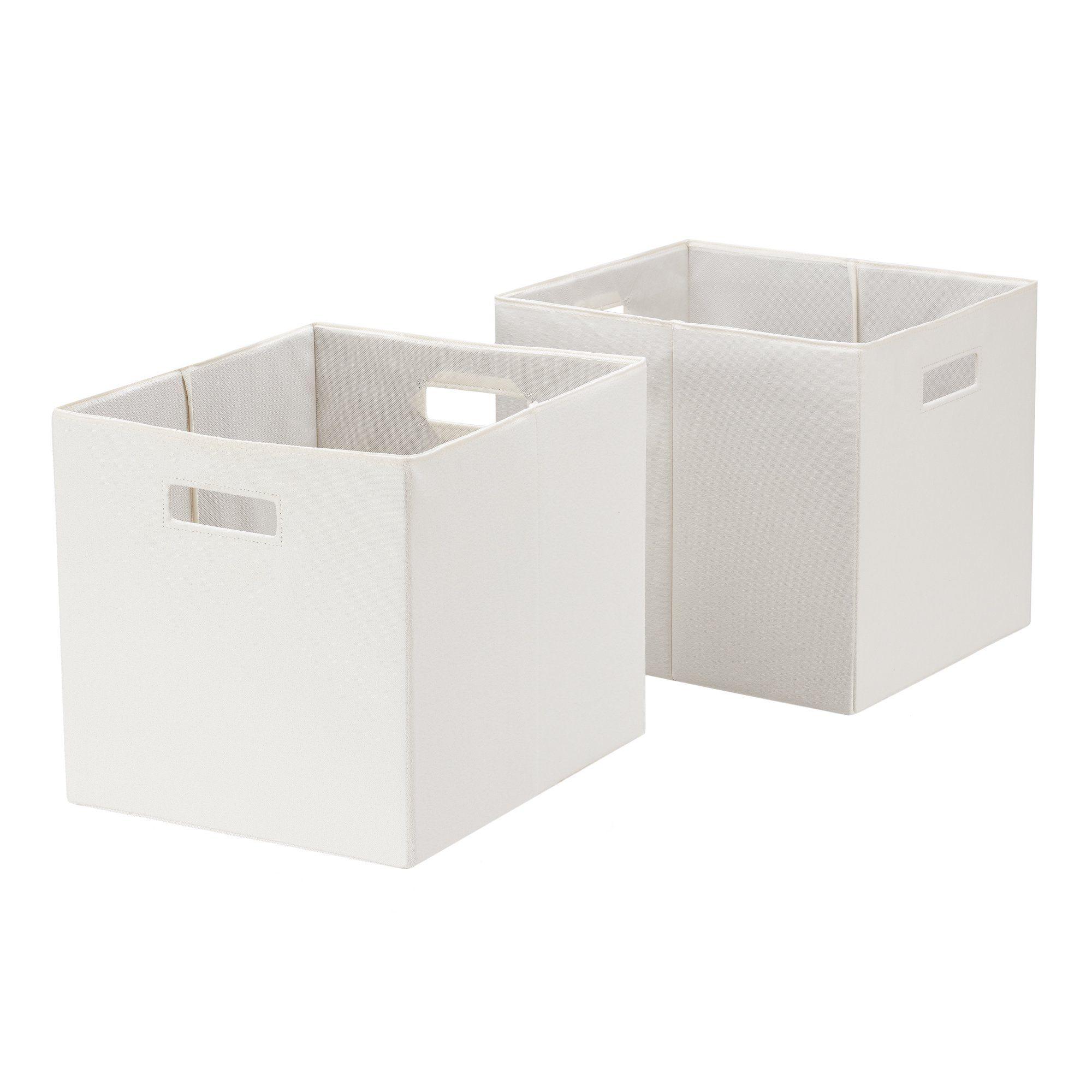 Better Homes Gardens Fabric Cube Storage Bins 12 75 X 12 75 Set Of 2 Vanilla Dream Walmart Com In 2020 Cube Storage Storage Bins Cube Storage Bins