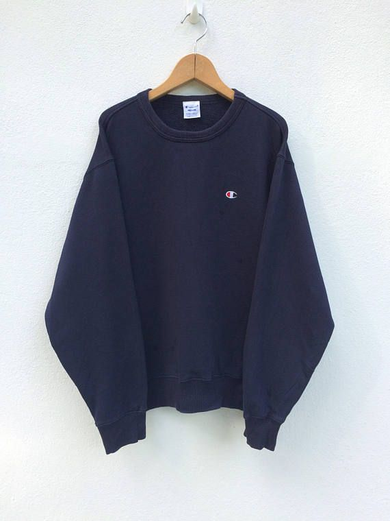 Bed Kaufen Vintage Champion Navy Blue Sweatshirt /pull Over