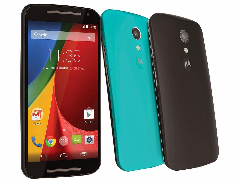 El Motorola Moto G (2014) es la segunda versión del popular Moto G, esta vez con una pantalla ligeramente más grande y un diseño exterior renovado. Posee una pantalla 720p de 5 pulgadas, procesador Snapdragon 400 quad-core a 1.2GHz, 1GB de RAM, cámara de 8 megapixels trasera y 2 MP al frente, ranura microSD, 8GB de almacenamiento.