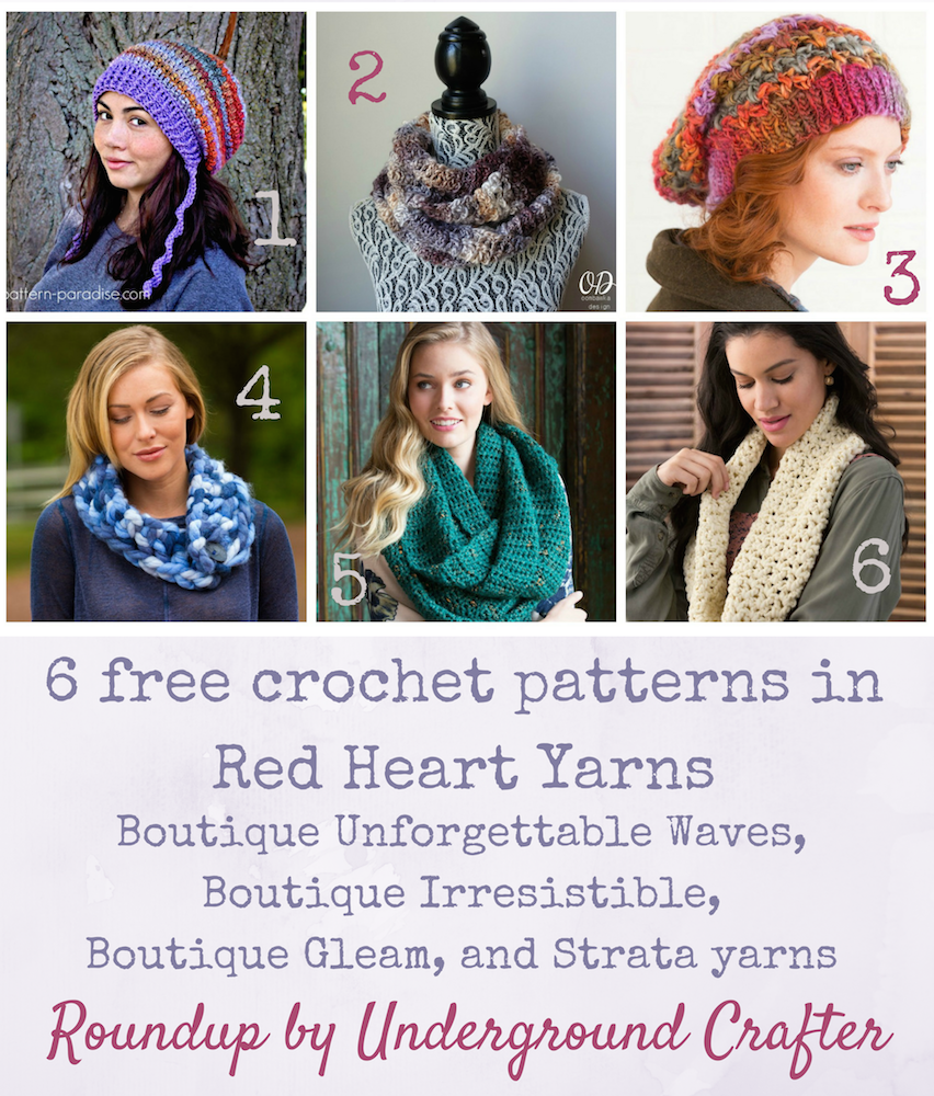 Roundup 6 free crochet patterns in red heart boutique roundup 6 free crochet patterns in red heart boutique unforgettable waves boutique irresistible bankloansurffo Image collections