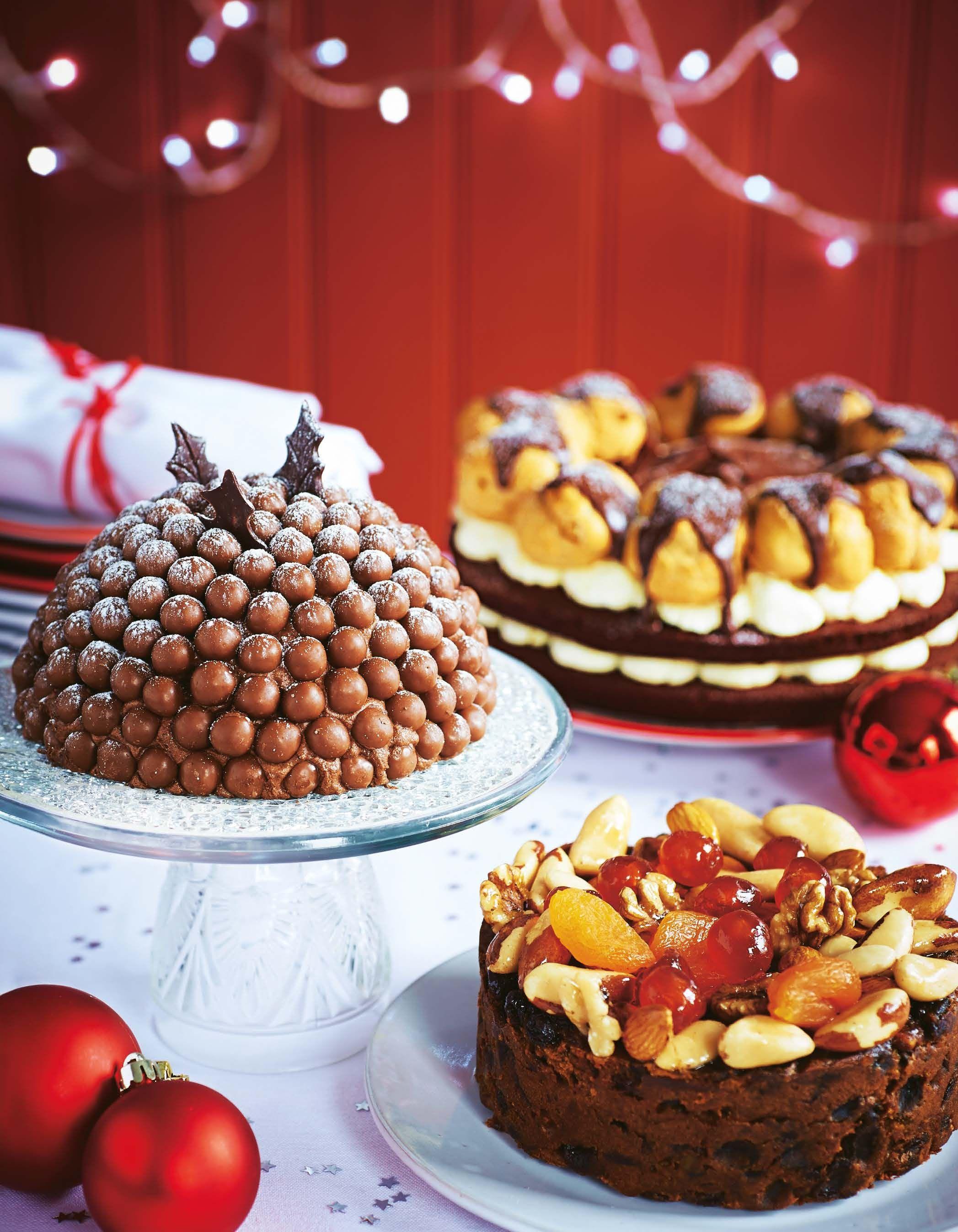 Asda magazine december 2013 cake decorated with fruit