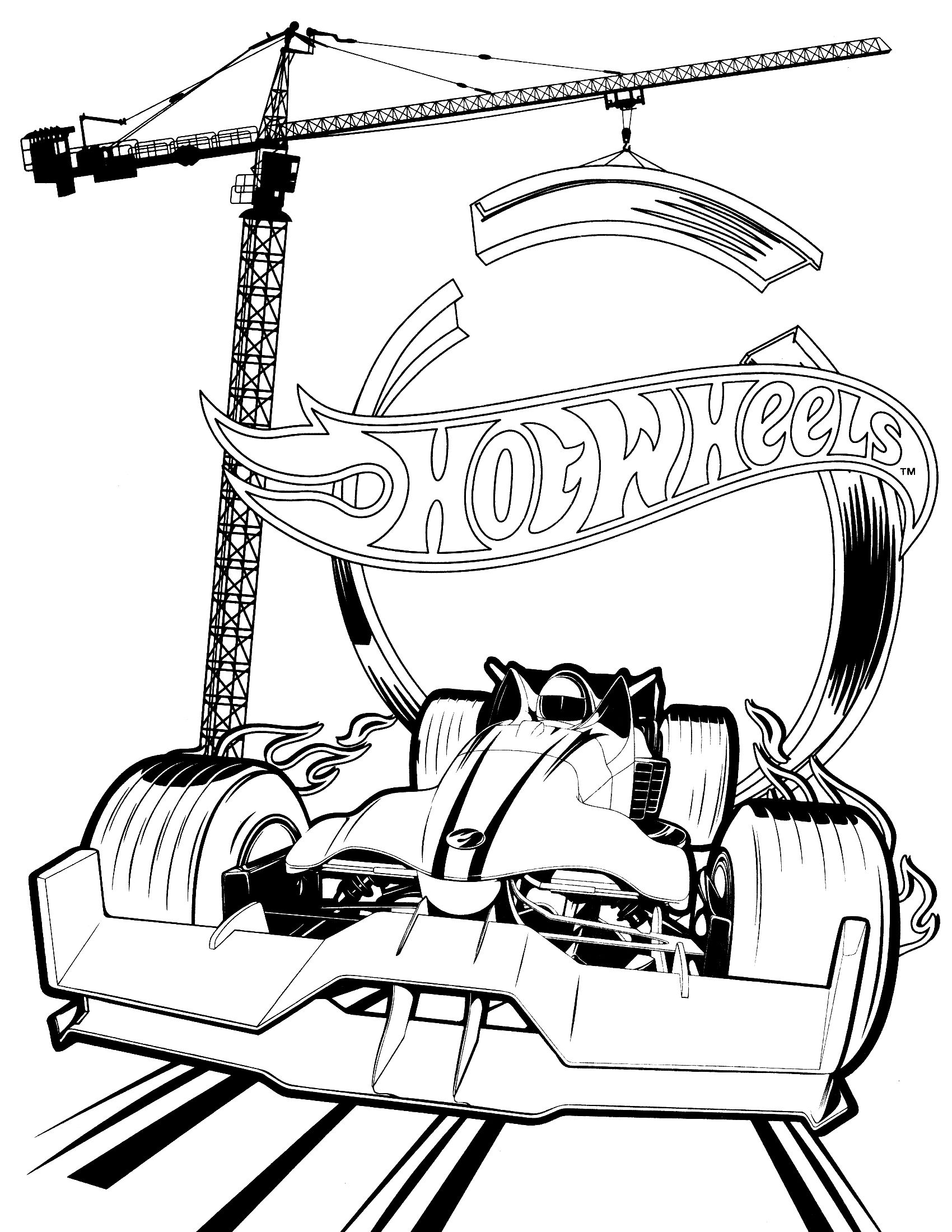 Hot Wheels Coloring Pages for Kids  hot wheels coloring book