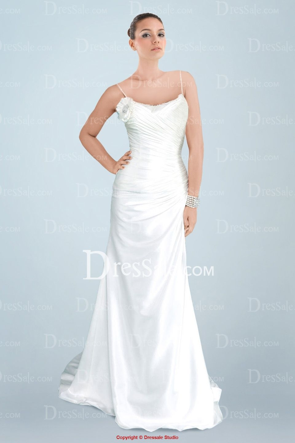 Bodice wedding dress  Engrossing Oneshoulder Spaghetti Strap Aline Wedding Dress with