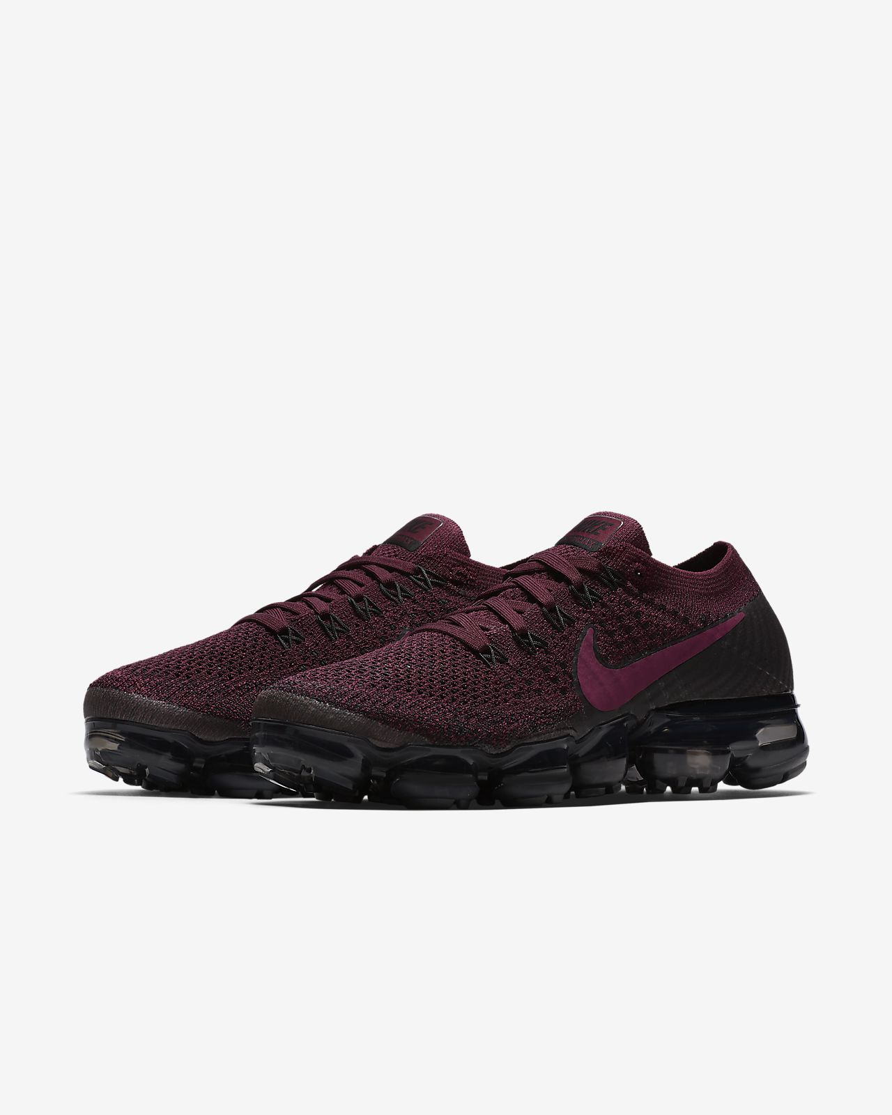 Nike Air VaporMax Flyknit Women s Running Shoe Bordeaux Black Anthracite Tea  Berry 46740df9a