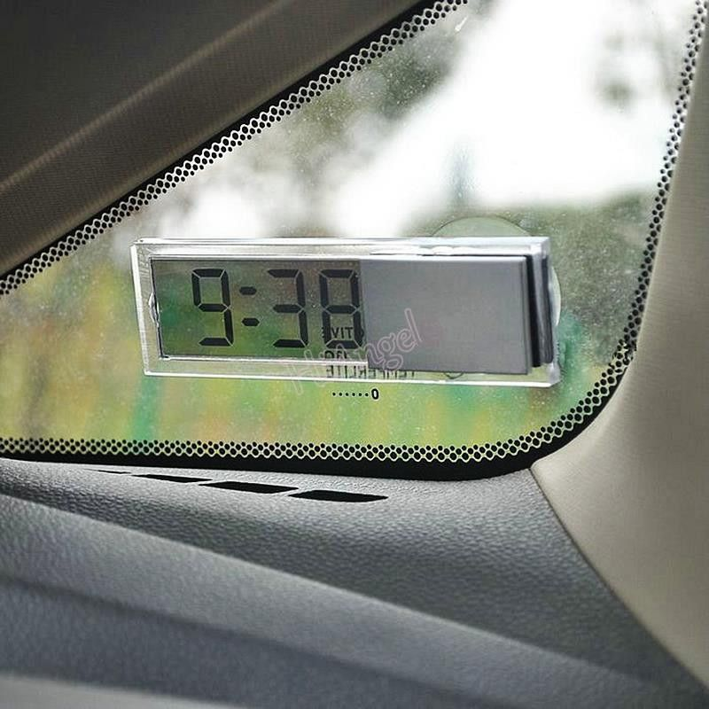 Windshield Digital LCD Clock Thermometer W// Suction Cup Auto Car Vehicle Monitor