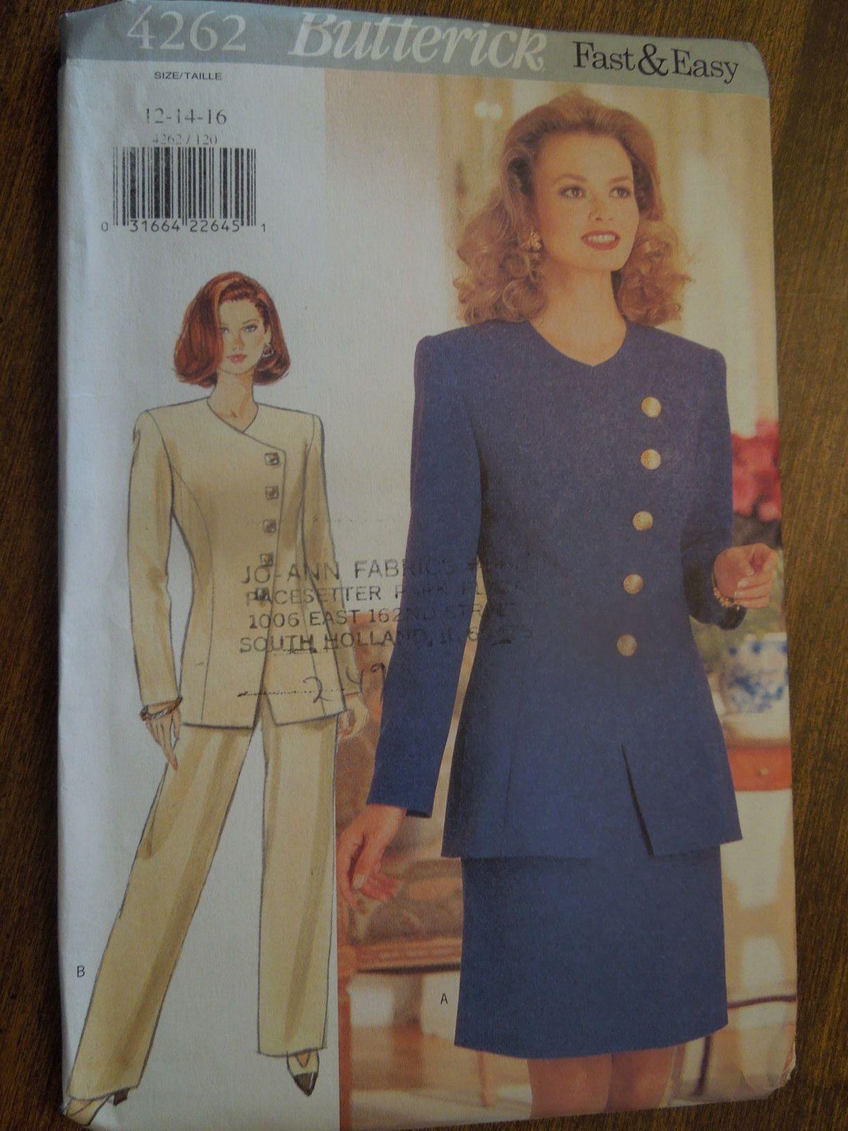Vintage Butterick SEWING Pattern 4262 Misses Jacket Skirt Pants UNCUT