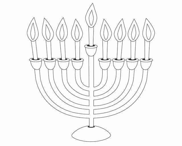 picture relating to Menorah Printable named Menorah - No cost Printable Coloring Web pages Printable Crafts