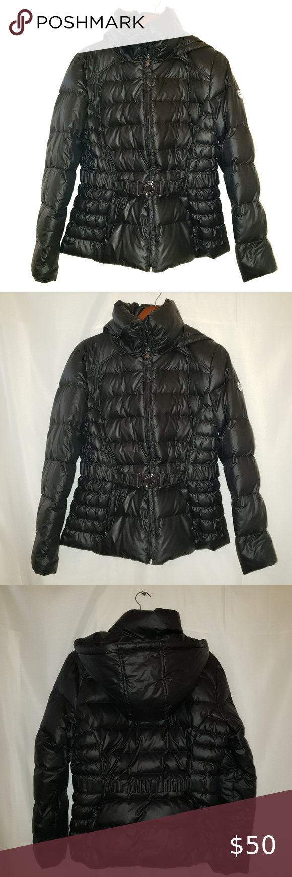 Guess Black Hooded Puffer Jacket Size Xl In 2021 Women S Puffer Coats Jackets Women Hooded Jacket [ 1740 x 580 Pixel ]