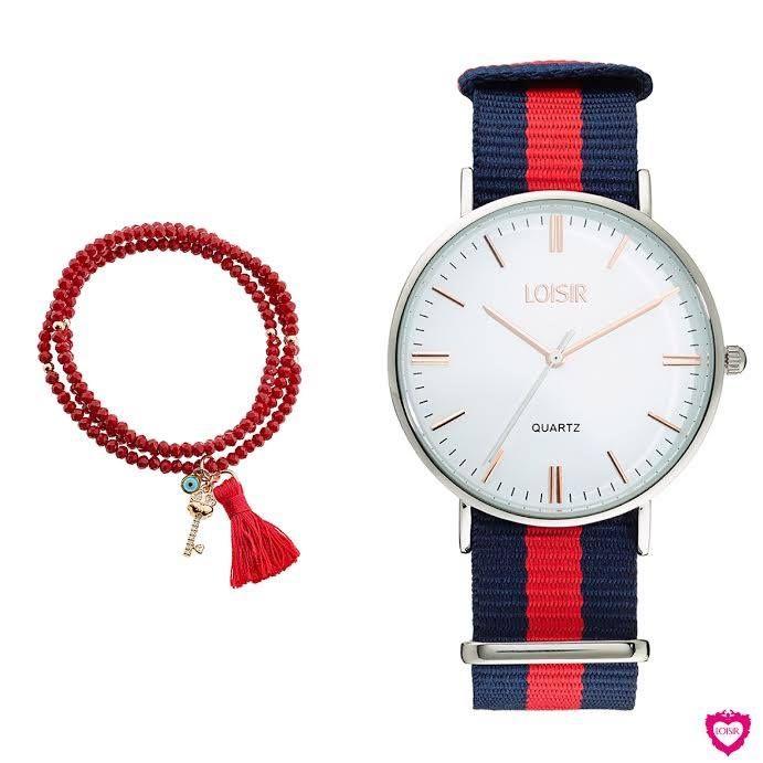 Trendy horloges voor modieuze dames. Combineer met leuke armband. www.aperfectgift.nl. LOISIR- het perfecte cadeautje