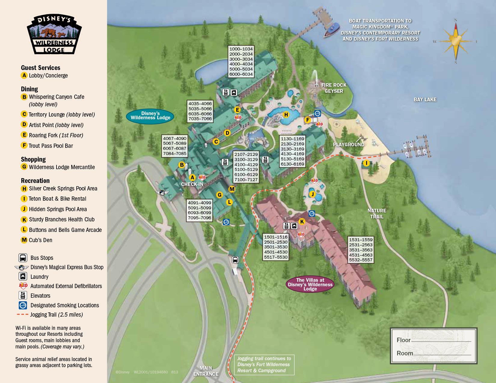 Wilderness Lodge Resort Map in 2019 | Disney World Maps | Disney ...