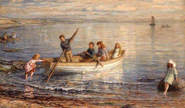 Children Boating by Hugh Cameron