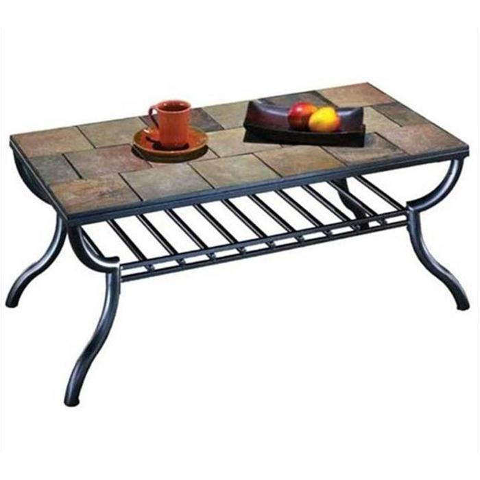 Antigo tile top rectangular coffee table nebraska furniture mart home decor pinterest slate Slate top coffee tables