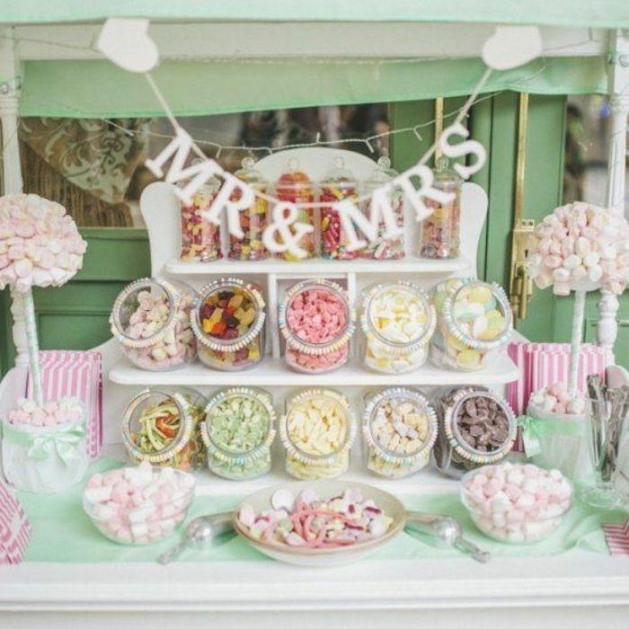 1001 astuces et id es pour organiser un candy bar mariage bonbons color s candy bar mariage. Black Bedroom Furniture Sets. Home Design Ideas