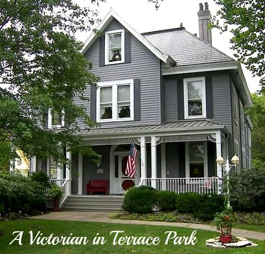 A gray victorian for sale in terrace park ohio dark for Terrace color combination