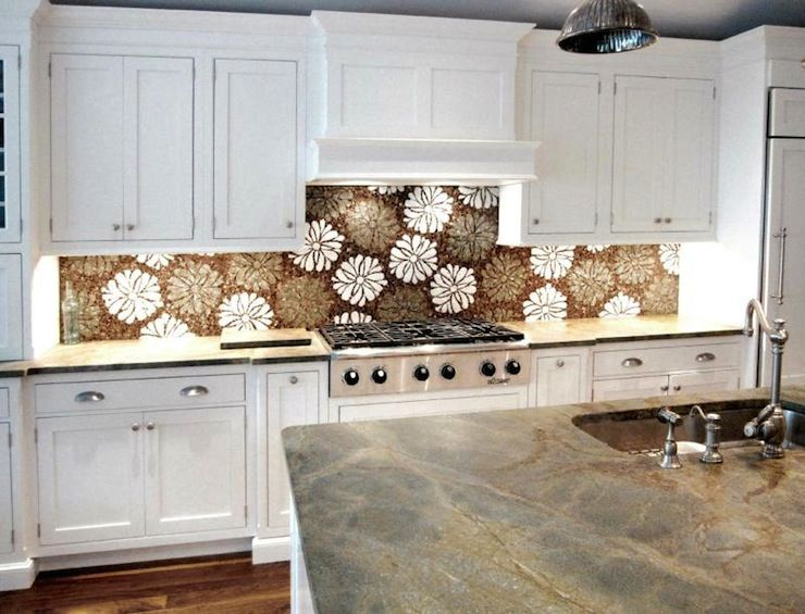 White Stone Backsplash Kitchen whimsical kitchen back splash    , veins, sink in kitchen