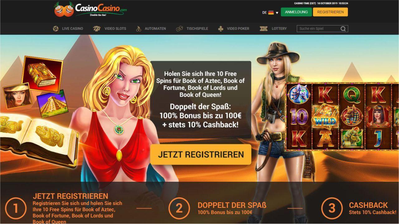 Casino Casino Bonus - jawohl das ist kein Schreibfehler sondern das Doppelte Casino. #freespins…