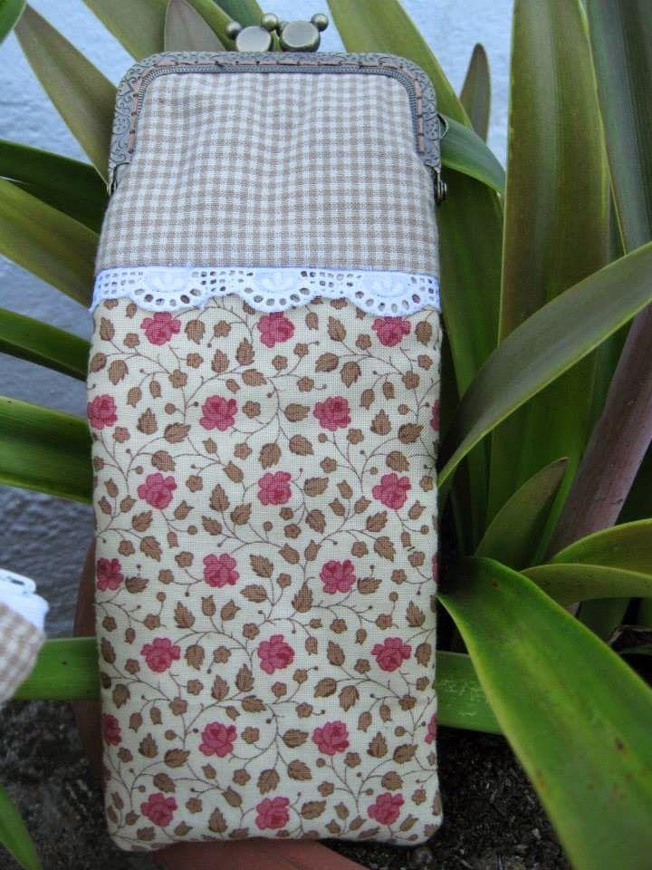 Funda de gafas en patchwork patchwork pinterest - Fundas para bolsos ...